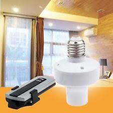 wireless e27 remote light l bulb holder cap