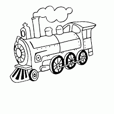 Train Locomotive 19 Transport Coloriages à Imprimer
