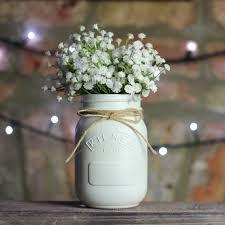 White Painted Kilner Mason Jar UK