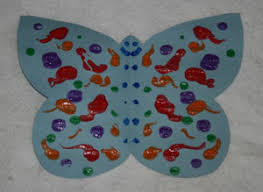 Folding Paper Butterfly Craft For Kids