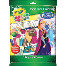 Crayola Disney Frozen Color Colour Wonder Mess Free Colouring Set Book 5 Pens