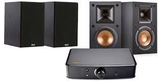 Amazon Klipsch Bookshelf Speakers and Powergate Amplifier Bundle