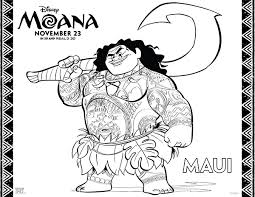 CLICK HERE TO PRINT Maui Coloring Page