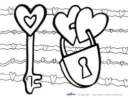 Coloring Pages Valentines Day Book Printable Color To Print Hearts Free Cards Full Size
