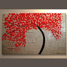 Red Tree Knife Wall Art