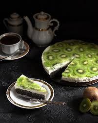mohn sahne kiwi torte