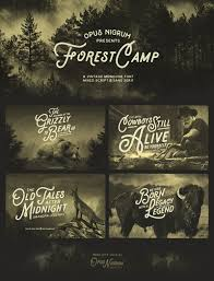 Forest Camp Font On Behance