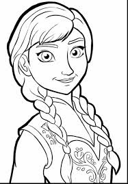 Great Frozen Anna And Elsa Coloring Pages With Page To