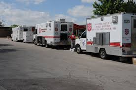 Salvation Army Vehicles At DRC #2 | FEMA.gov