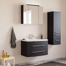 badezimmer waschplatz set mit 80cm waschtisch led spiegelschrank map