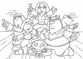 Family Guy Artists Coloring Pages For Kids Printable Free And Voltron Force