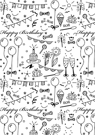 Birthday Wrapping Paper Designs Printable 2018