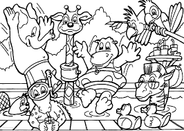Splendid Design Inspiration Animals Coloring Pages Free Printable For Kids And Of