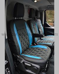 Ford Transit Custom Seat Covers - Black With Blue Car Seat Covers ...