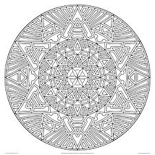 Geometric Coloring Pages Adults Printable Download Animal Mandala Free For Online Pdf Full Size