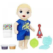 Baby Alive Super Snacks Snackin Luke Doll Blonde