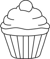 5 Best of Printable Birthday Cupcake Outlines Black and White Cupcake Outline Cupcake Outline Printable and Happy Birthday Cupcake Coloring Pages