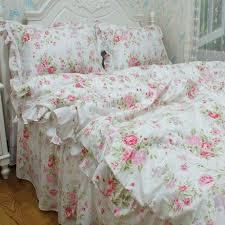 FADFAY Home TextileRomantic Pink Rose Jacquard Bedding SetElegant American Rustic Vintage Floral