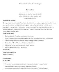 Retail Resume Templates Template Sales Executive Resumes Manager Sample Assistant Fashion