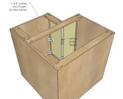 ana white 36 corner base easy reach kitchen cabinet basic