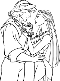 Pocahontas Coloring Page Pages Wecoloringpage Line Drawings