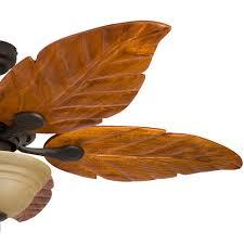 Ceiling Fan With Palm Leaf Blades by Honeywell Sabal Palm Ceiling Fan Bronze Finish 52 Inch 50204