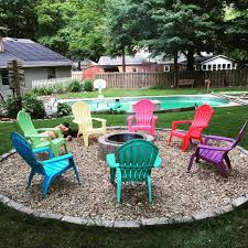 Pea Gravel Patio Plans by Finally Getting Some Use Out Of The Firepit After A Soggy Start