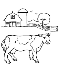 Cow Coloring Pages In Farms