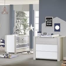 chambre bébé lit commode chambre bébé duo opale frêne sablé sans motif lit commode de