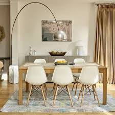 Inspiration For A Medium Sized Contemporary Open Plan Dining Room In London With White Walls