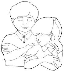 Children Praying Coloring Page For Anyone Who Wants To Do Advanced Editing Printable Boy