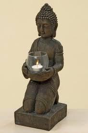 windlicht figur buddha xl teelichthalter heim garten deko statue skulptur