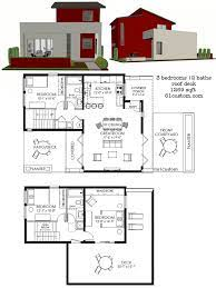 104 Contemporary Modern Floor Plans 1269 Sq Ft Small House Plan With Three Bedrooms Two Baths A Front Ki House Small House House