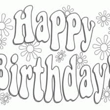 Free Printable Happy Birthday Coloring Pages AZ