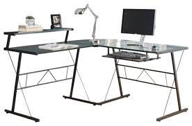 attractive glass computer desk corner computer desk black metal