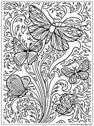 Free Printable Adult Butterfly Sheet Coloring Pages