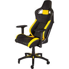 CORSAIR T1 RACE, Gaming Chair, High Back Desk And Office Chair, Black/Yellow Redragon Coeus Gaming Chair Black And Red For Every Gamer Ergonomically Designed Superior Comfort Able To Swivel 360 Degrees Playseat Evolution Racing Video Game Nintendo Xbox Playstation Cpu Supports Logitech Thrumaster Fanatec Steering Wheel And Pedal T300rs Gt Ready To Race Bundle Hyperx Ruby Nordic Supply All Products Chairs Zenox Hong Kong Gran Turismo Blackred Vertagear Series Sline Sl5000 150kg Weight Limit Easy Assembly Adjustable Seat Height Penta Rs1 Casters Sandberg Floor Mat Diskus Spol S Ro F1 White Cougar Armor Orange Alcantara Diy Hotas Grimmash On
