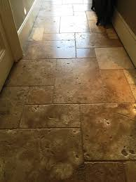 cleaning sealing and polishing large travertine floor