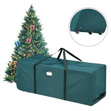 Trees Storage Bag For Premium Green Rolling Tree Upright Artificial With Wheels Boxes