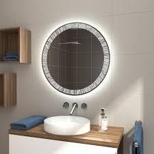 runder badspiegel mit led beleuchtung ldr507 glaswerk24