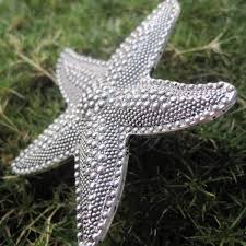 Glass Starfish Cabinet Knobs by Starfish Drawer Knobs Dresser Knobs In Silver With Dots