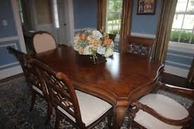 Image Is Loading Dining Room Furniture Drexel Heritage Table Chairs Curtains