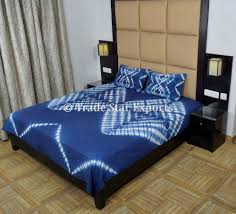 Blue Tie Dye Bedding by Tie Dye Bedding Set Indigo Bedspread With Pillow Cover Queen