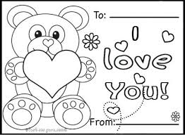 Full Image For Printable Valentines Day Cards Teddy Bears Coloring Pages Hello Kitty