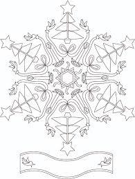 Holiday Snowflake Free Coloring Page