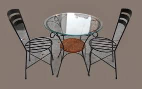100 Small Wrought Iron Table And Chairs Uhuru Furniture Collectibles With Glass