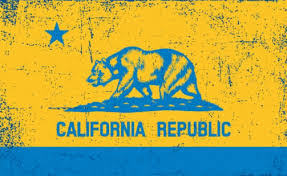 California Republic Flags Used As Protest USA
