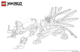 Dragon Ninja Attack Enemy Lego Coloring Pages