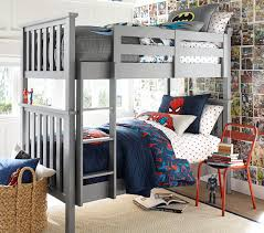 Elliott Bunk Bed | Pottery Barn Kids Blythe Convertible Cot Vintage Grey Pottery Barn Kids Fisherman Table Lamp Fall Nurseries Lbook Kid Rooms Navy Harper Rug Rugs Baby Nursery Gingham Percale Cosy Quilt Fniture Bedding Gifts Registry Allin1 Retro Kitchen Au The Emily Meritt Ruffle Stripe Quilted Elliott Bunk Bed Georgia Larkin In White Httpwww