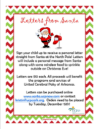 Letters from Santa – UCP of Arkansas